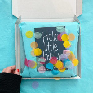 gift box with confetti